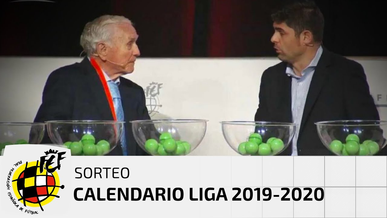 Calendario Liga Futbol 2020.En Directo Sorteo Calendario Liga 2019 2020 Youtube