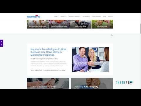 Insurance Pro - Ultimate Template for Insurance Agency        | Free