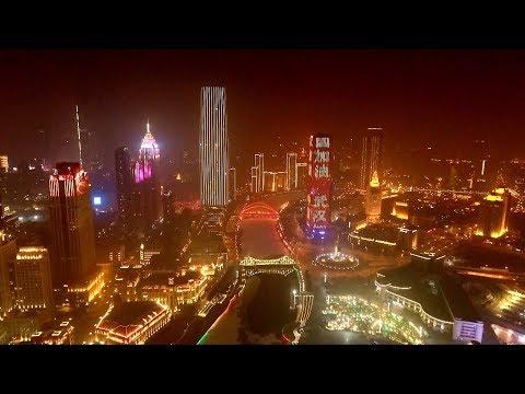 People across China encourage Wuhan City on Lantern Festival
