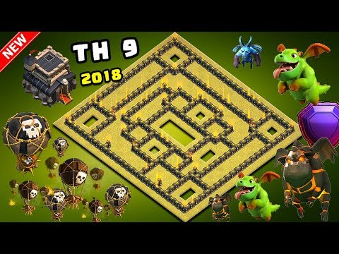 UNDEFEATED Best Th9 War Base 2018 Anti Lavaloon Anti 1 Star/Anti 2 Star With Replay Anti Everything