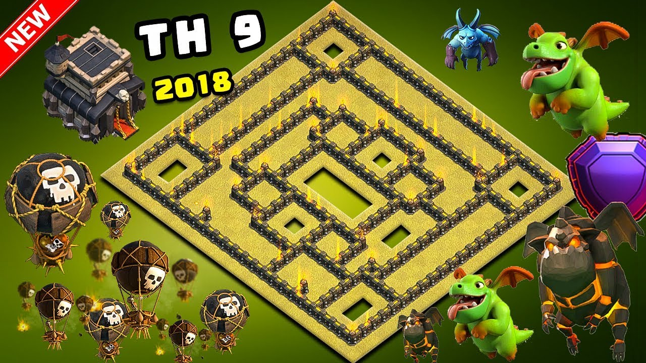 Undefeated Best Th9 Base 2019 11