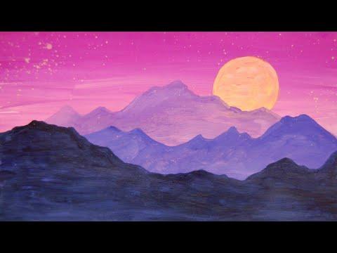 видео: Рисуем горы. Правополушарное рисование