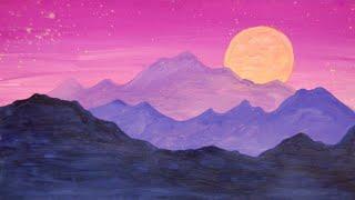 Рисуем горы. Правополушарное рисование