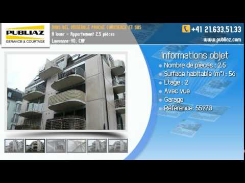 Appartement à Louer à Lausanne  2.5 Pièces, CHF
