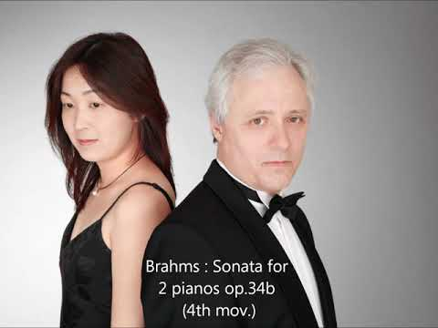 Brahms Sonata in f minor for 2 pianos op34b 4mvt