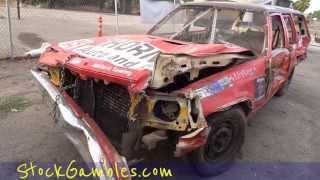 Demo Derby Demolition Car After Walkaround Wrecked Custom Reinforced Wagon Video Review