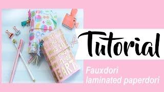 Tutorial fauxdori: laminated paperdori