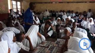 Sacred Heart Primary school pupils express gratitude as they get Taifa Leo newspaper copies