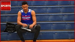 BEN SIMMONS Injured! Fractured Foot Sidelines 76ers No. 1 Pick