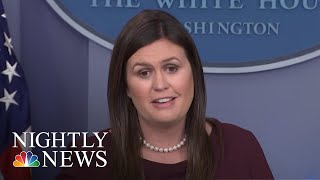 Sanders Says She 'Can't Guarantee' There's No Tape Of Trump Using The 'N-Word' | NBC Nightly News
