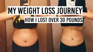 How I Lost Over 30 Pounds - My Weight Loss Journey | PAIGE MARIAH