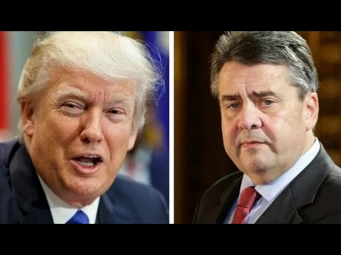 German foreign minister Sigmar Gabriel speaks at CSIS in Washington, D.C. 5/18/17 Trump News