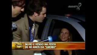 Pânico na TV - Repórter Vesgo e Silvio - Na festa dos 40 anos da Rede Globo - Parte I