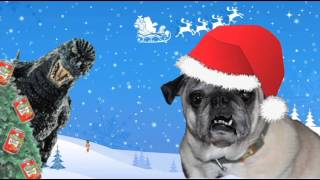 Max The Pug Tries To Sing A Christmas Song With A Nutcracker, But It Doesn't Go All That Well!
