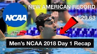 Men's NCAA Swimming Championships 2018: Day 1 Recap