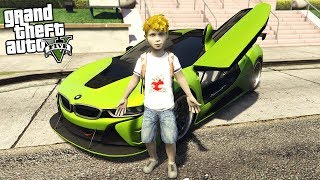 BUYING A BMW i8 AT AGE 10!!! (GTA 5 REAL LIFE PC MOD)