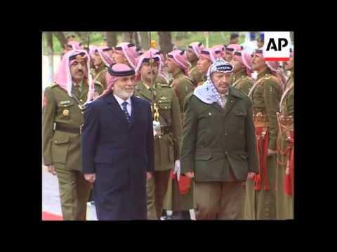 Jordan - Arrival Yasser Arafat