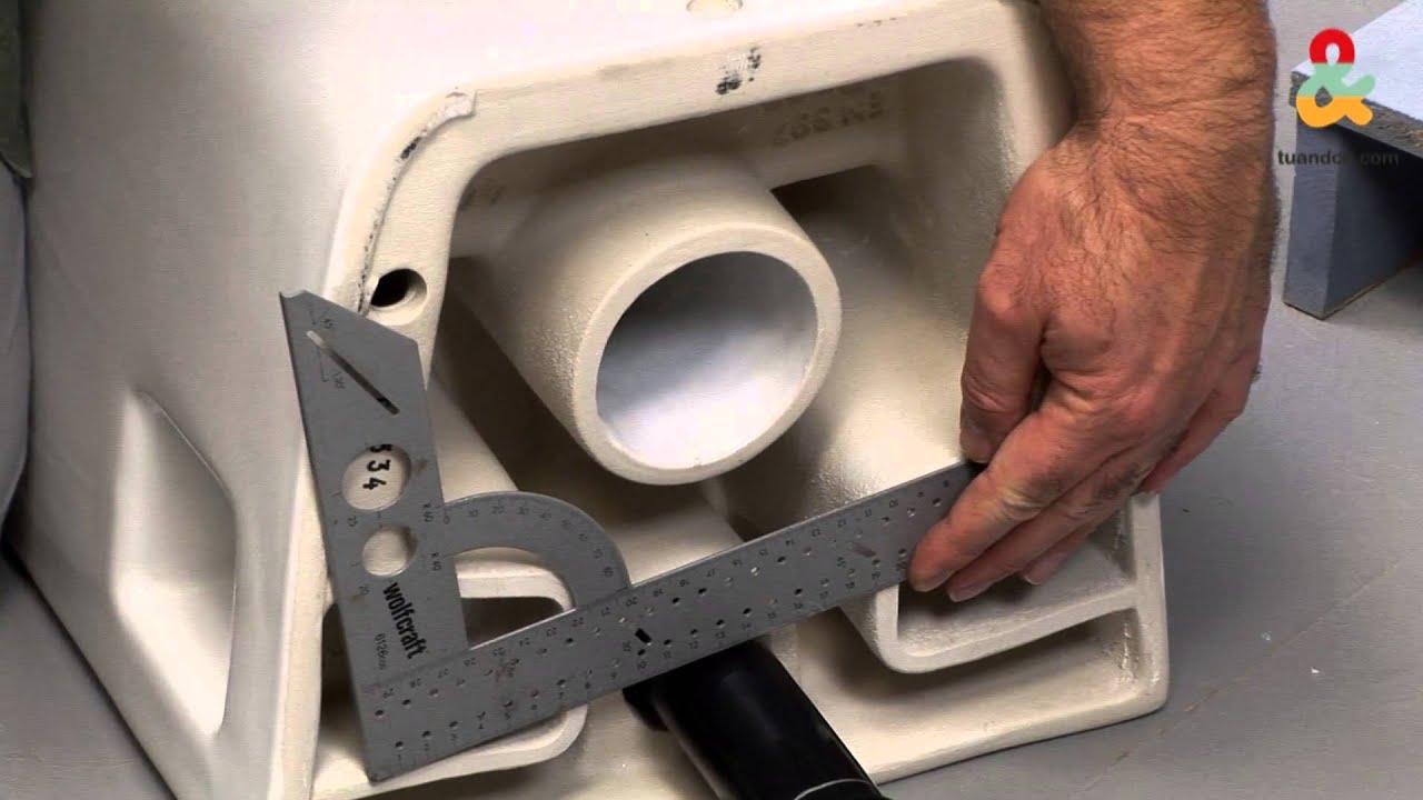 ¿Cómo Instalar Un Inodoro Suspendido?   YouTube
