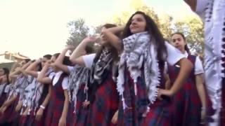 دبكة أنا دمي فلسطيني لمدرسة في فلسطين روعه