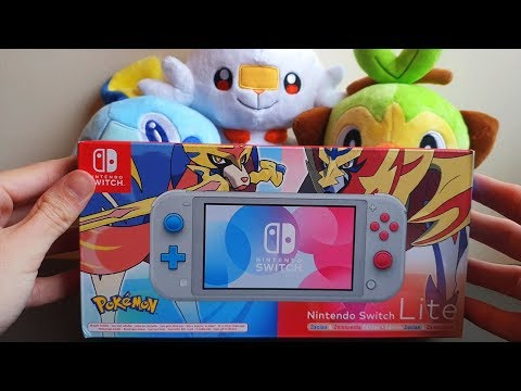 Pokemon Sword & Shield Nintendo Switch Lite Zacian & Zamazenta Edition Unboxing