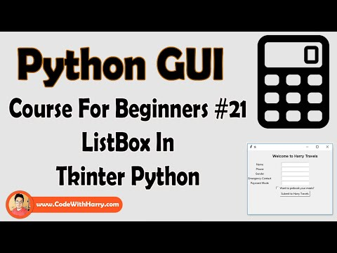 ListBox In Tkinter  Python Tkinter GUI Tutorial In Hindi #21 thumbnail
