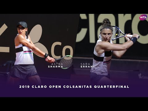 Astra Sharma vs. Sara Errani | 2019 Claro Open Colsanitas Quarterfinals | WTA Highlights