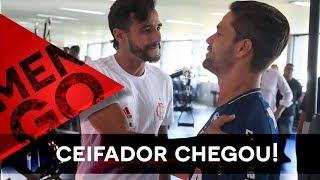 O primeiro dia de Henrique Dourado no Flamengo