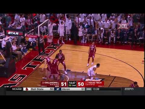 Oklahoma vs Texas Tech Men's Basketball Highlights
