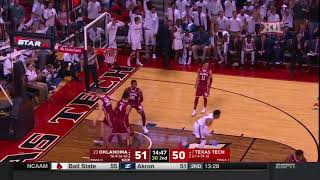 Oklahoma vs Texas Tech Men's Basketball Highlights