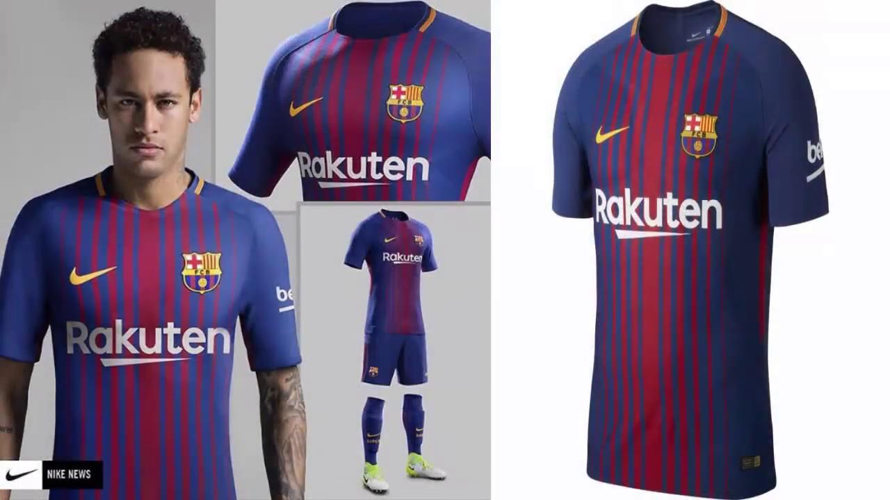 0029bda571124 NEW KIT FC BARCELONA 2017 2018- PES 2013 - YouTube