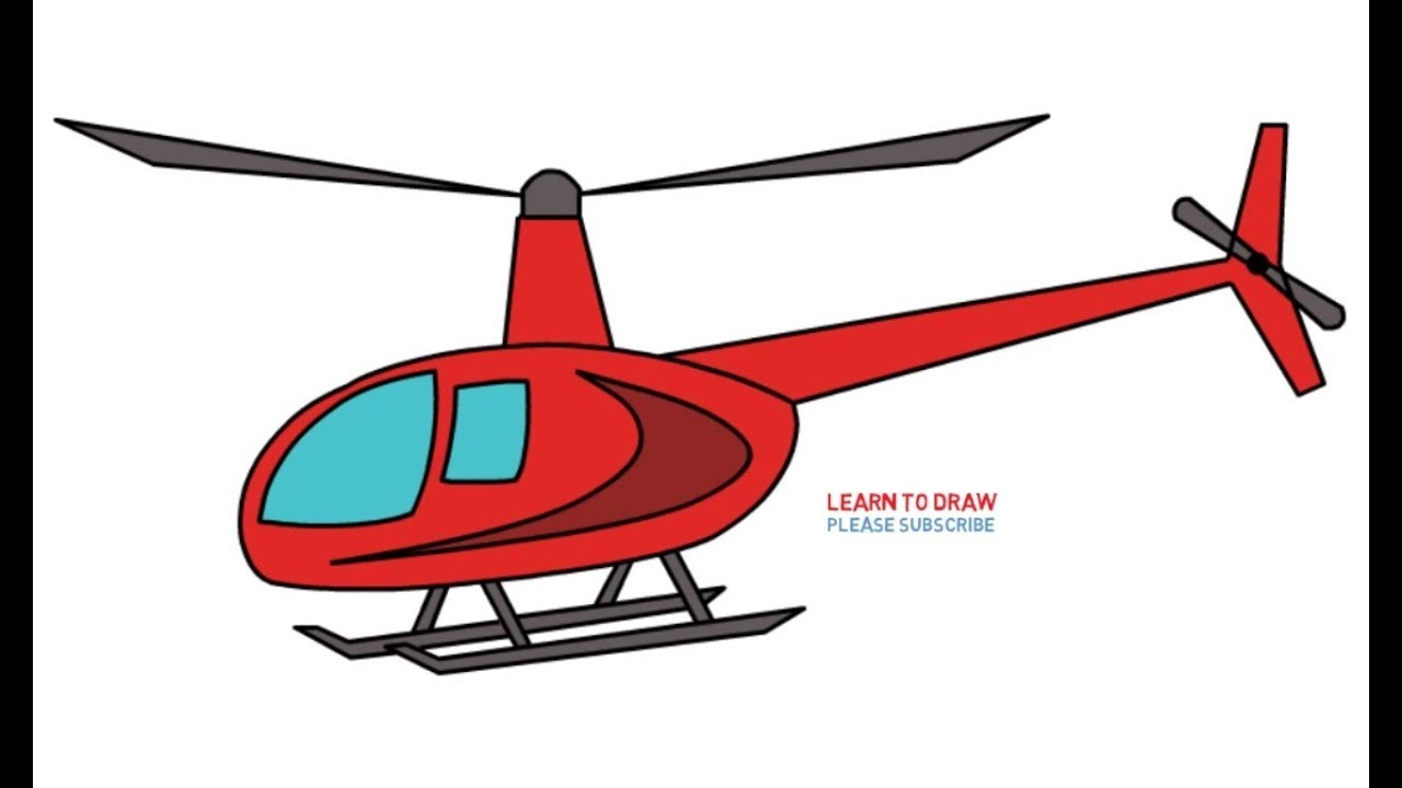 How to draw a helicopter 59
