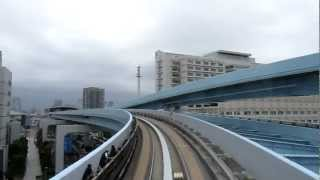 JAPON 2012 - 12.06 - TOKYO - Metro from Shimbashi to Odaiba (Ariake) - Yurikamome line