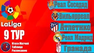 Футбол ЛАЛИГА Чемпионат Испании 9 ТУР РЕЗУЛЬТАТЫ МАТЧЕЙ расписание 10 тура таблица чемпионата
