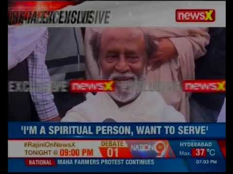 Rajini on NewsX: I'm a spiritual person, want to serve, says Rajinikanth