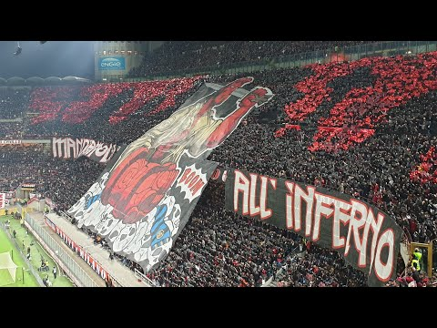 Ac Milan Fans Making Amazing Atmosphere Before Derby Vs Inter