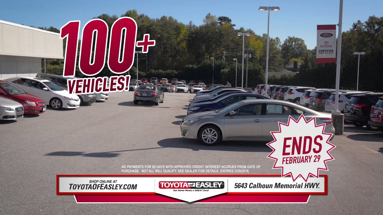 Nice No Payments For 90 Days   Easley, SC   Toyota Of Easley Used Cars