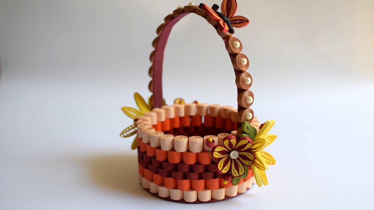 Quilled Basket Part 1: Paper Basket/ Quilling Basket ...