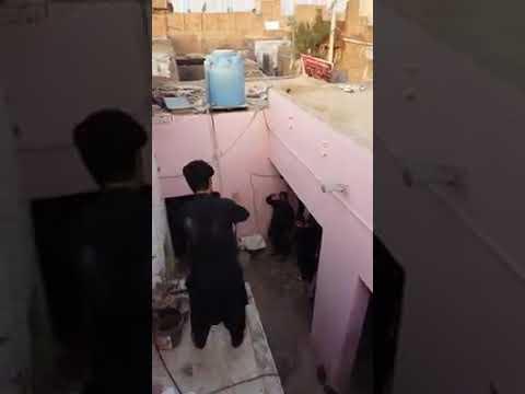 Faisalabad men aaal e Yazeed bin Mavia lantI ki lantI khabees nasal ne Shia jaloss pr hamla bar lant