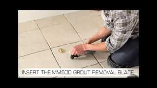 Dremel Multi-Max MM30 with the MM500 Grout Removal Accessory lets y...