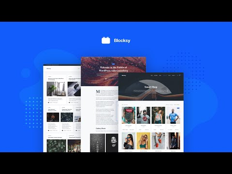 Blocksy - Free WordPress Theme Intro