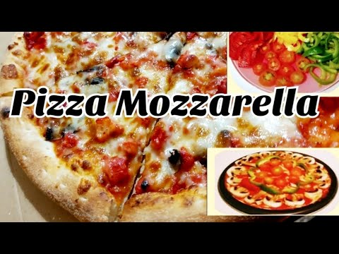 how-to-make-pizza-mozzarella-|-homemade-veg-cheese-pizza-|-recette-pizza-mozzarella