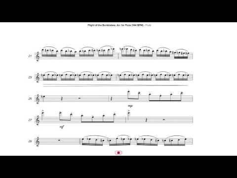 Flight of the Bumblebee, Arr. for Flute (144 BPM)