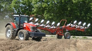 Massey Ferguson 8690 Ploughing w/ HUGE 10-Furrow Kuhn Vari  Plough | Ferguson Days 2018
