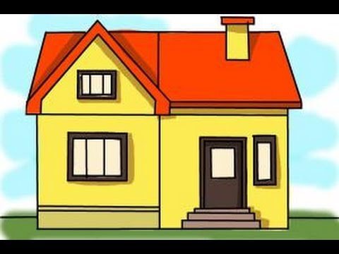 how to draw a big house - House Drawing Easy