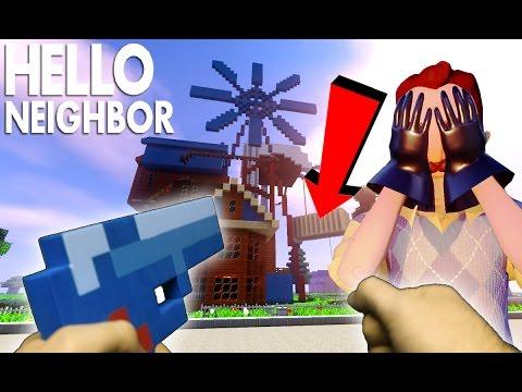 Realistic Hello Neighbor in Minecraft - The Neighbor has a BABY!!!
