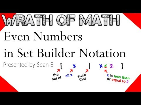 Even Numbers in Set Builder Notation