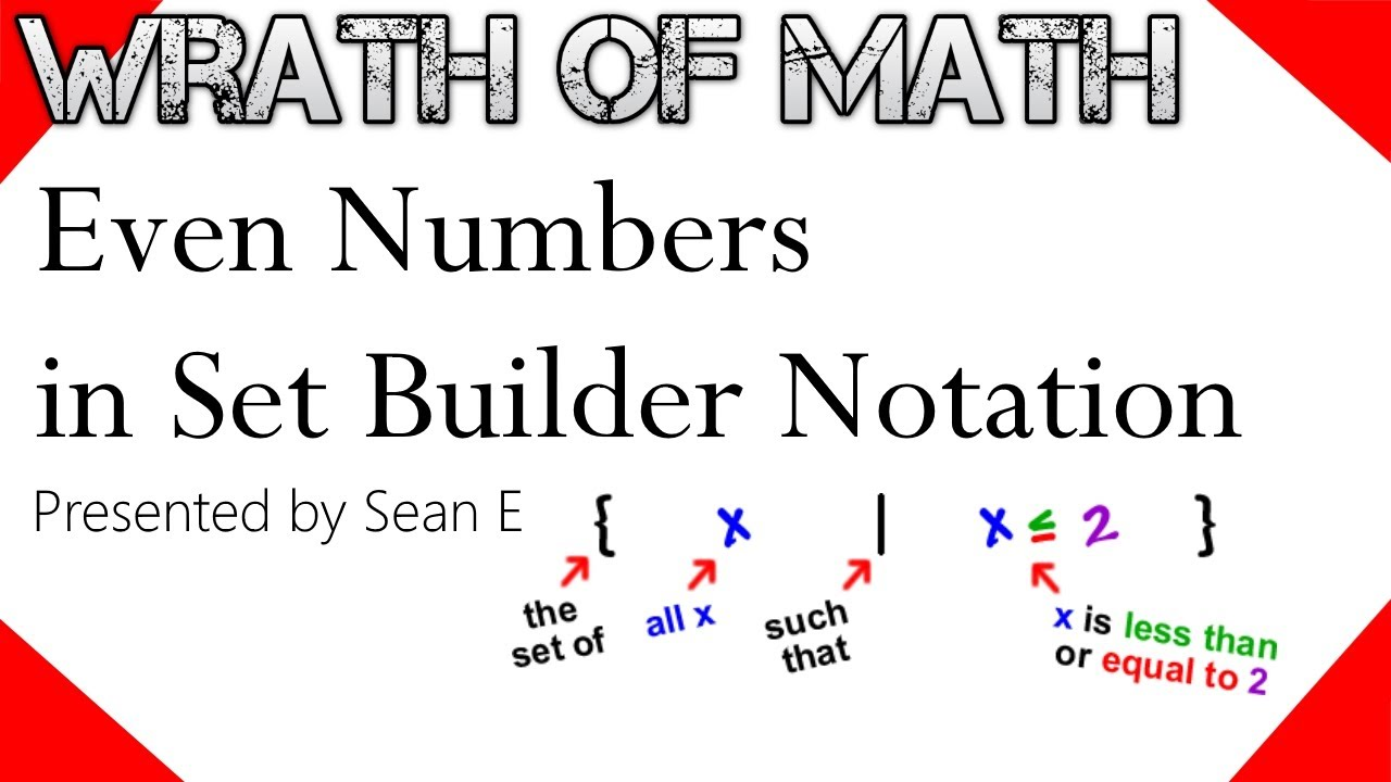 Even Numbers In Set Builder Notation Youtube