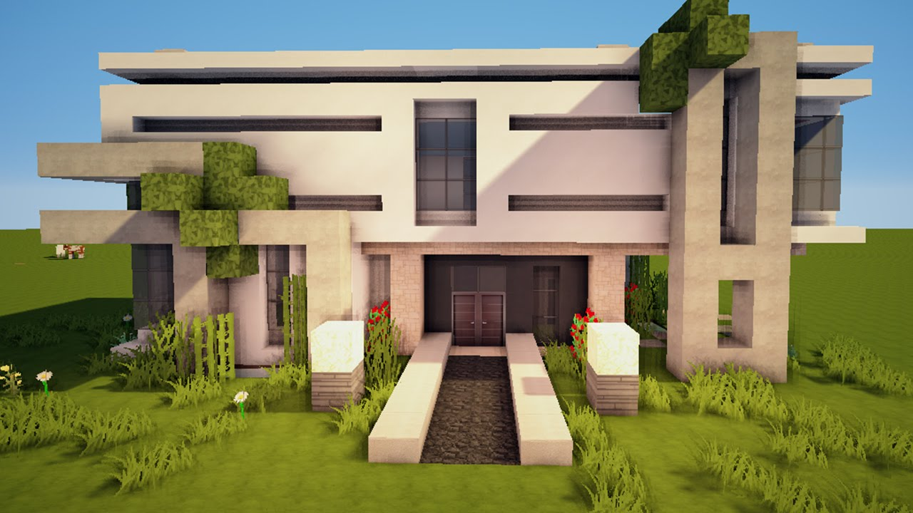 3 for Big modern houses on minecraft