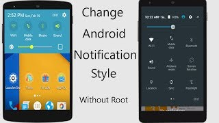 Change your Android Mobile System Notification panel Style & Status Bar (No Root Required) [Hindi]