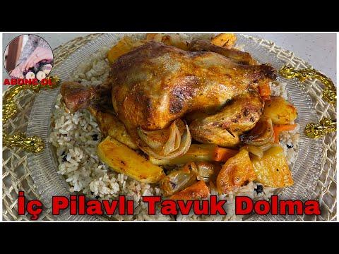 İÇ PİLAVLI TAVUK DOLMA / Fırında iç Pilavlı tavuk yapımı
